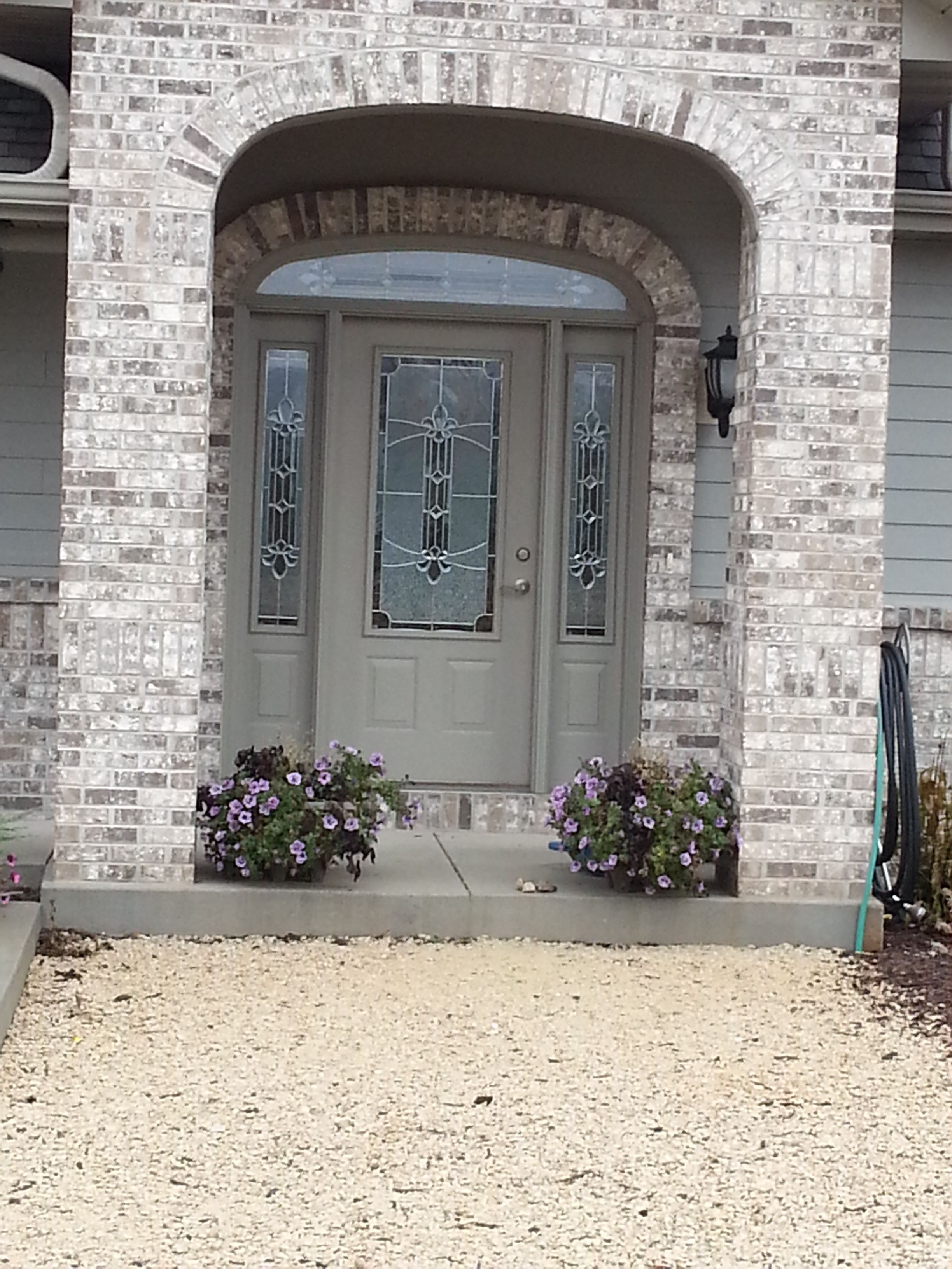 Taylor Stainable Steel Entry Door With Sidelights And Transom From Waudena  Millwork