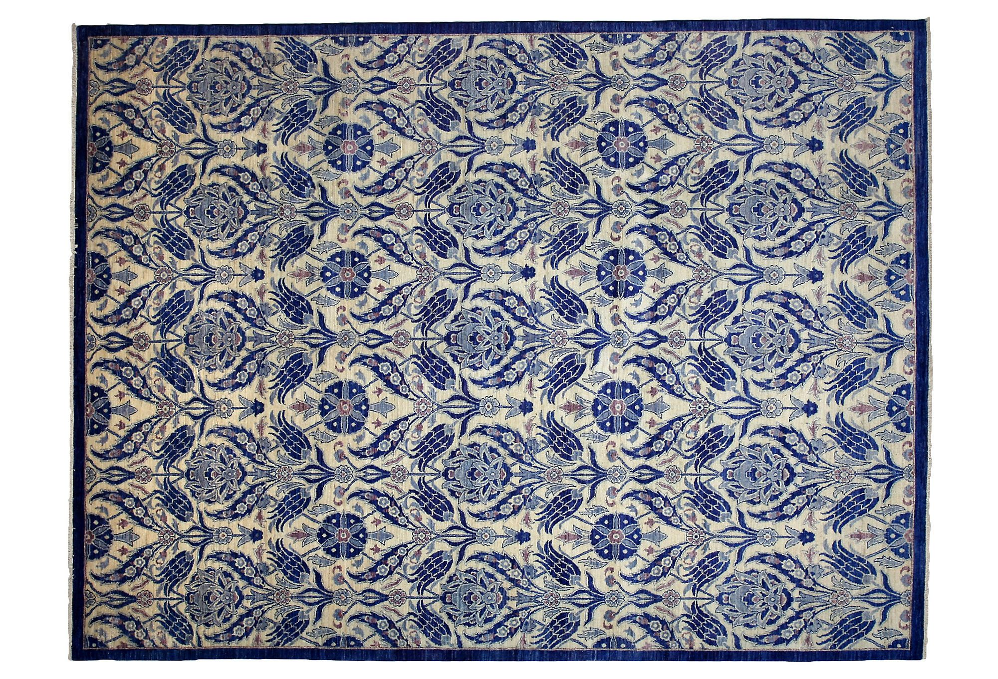 "One Kings Lane - Uncommon Ground - 9'x11'10"" Silang Rug, Royal Blue"