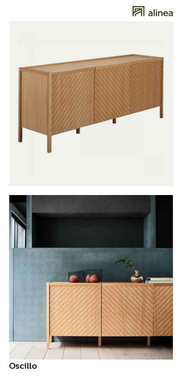 alinea oscillo buffet bas plaque chene 3 portes l183cm meubles salon meubles tv alinea decoration buffet chene inspiration meubles et deco