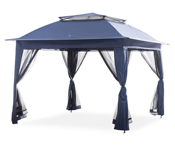 Wilson Amp Fisher Navy Blue Pop Up Canopy With Netting 11