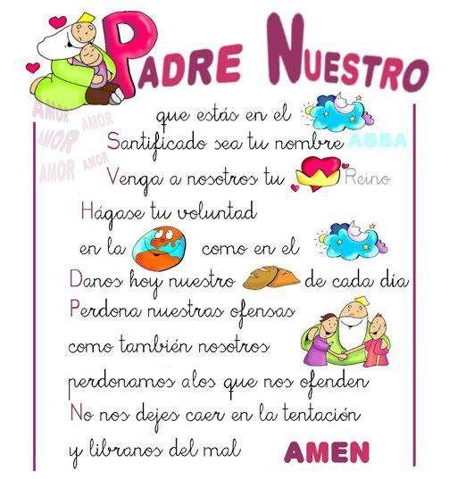Pin De Jacke Montoya En Imagenes De La Santísima Virgen Infantiles Oraciones Para Niños Oraciones Catolicas Padrenuestro