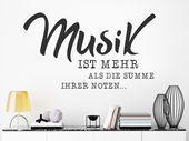 Wandtattoo Musik ist mehr als die Summe… | WANDTATTOO.DE – Elisa Adkinson