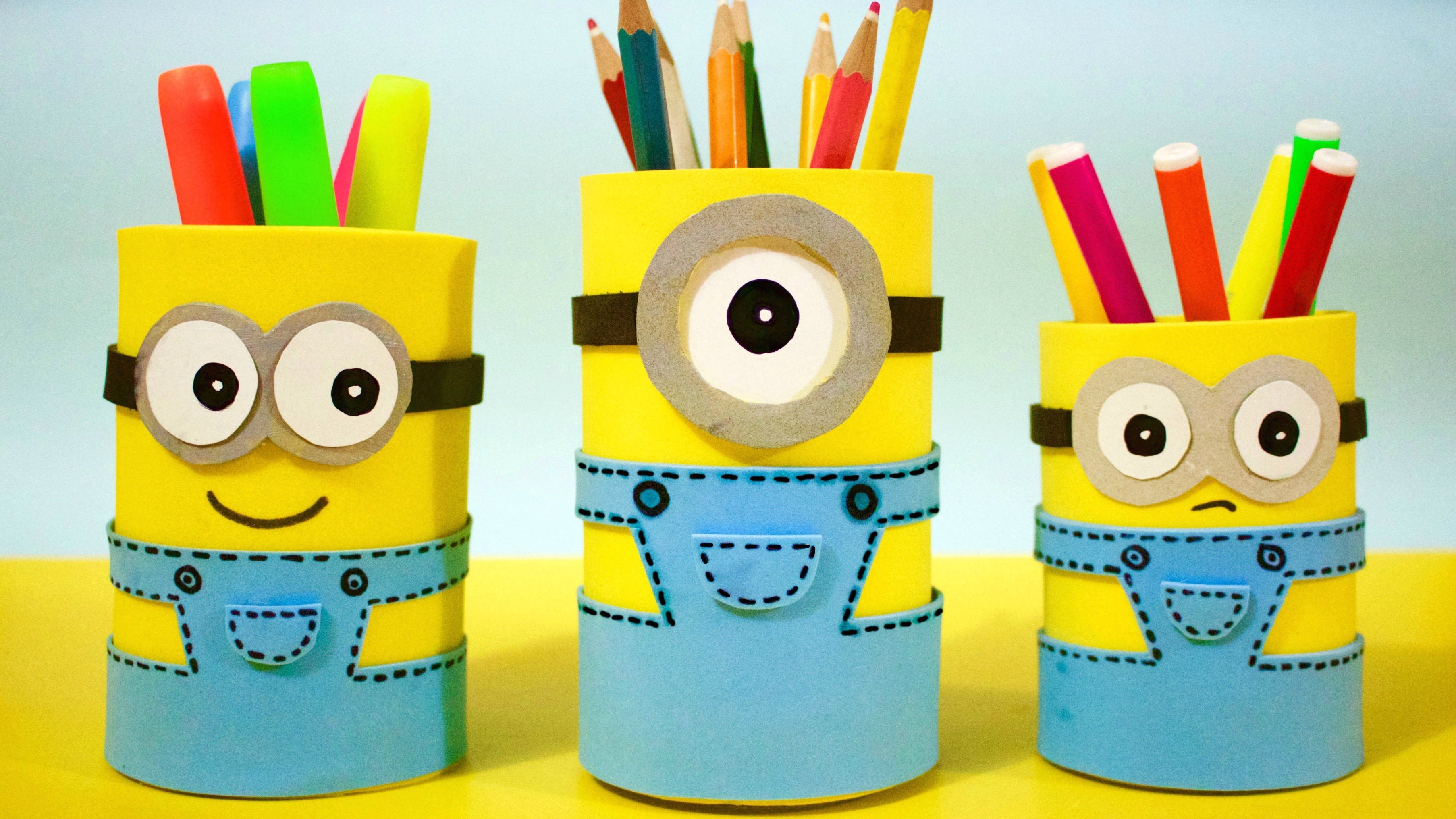 How To Make Minion Pencil Holders Diy School Supplies Easy