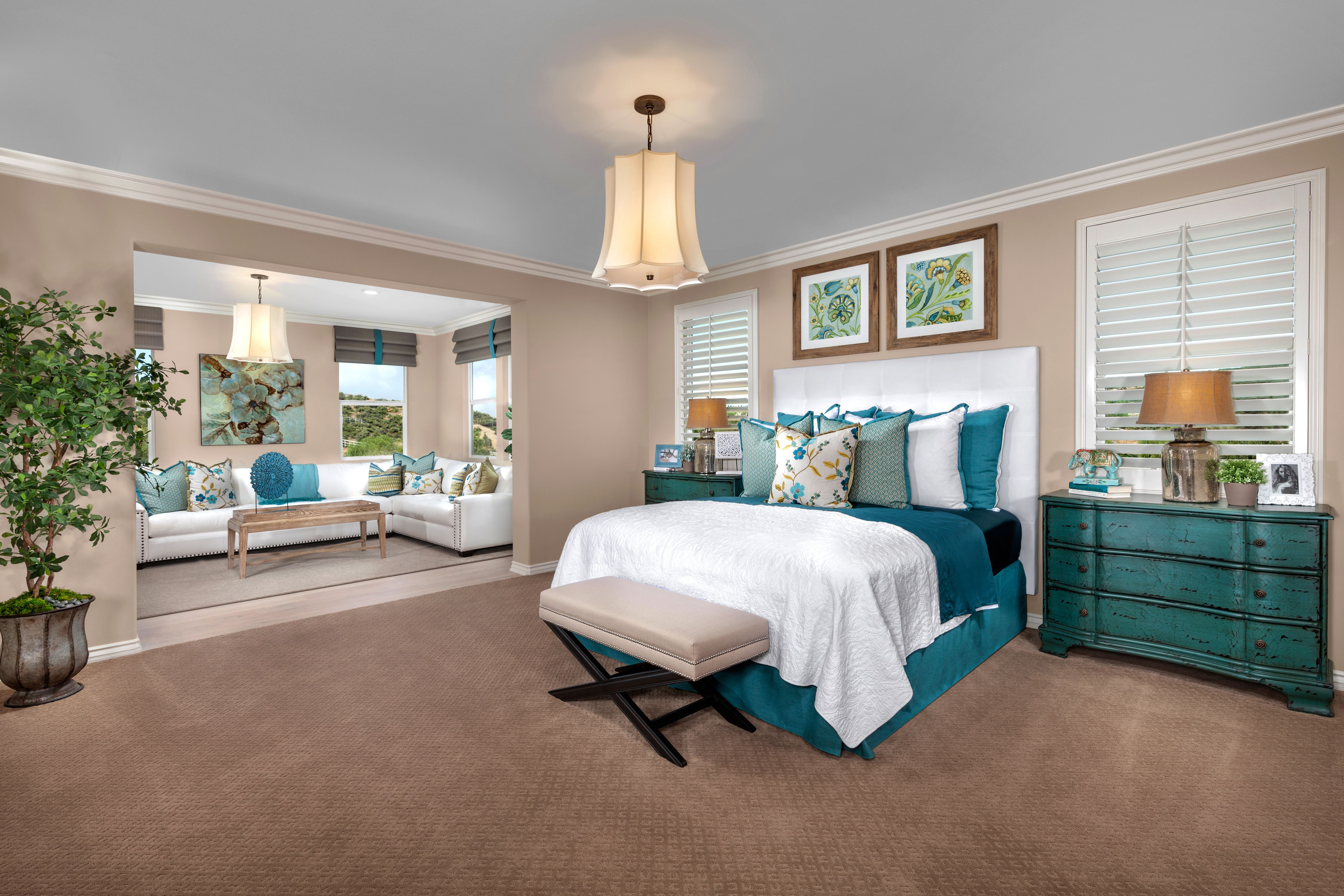 With plenty of space to rest your FEET, how would you like this master bedroom with RETREAT?