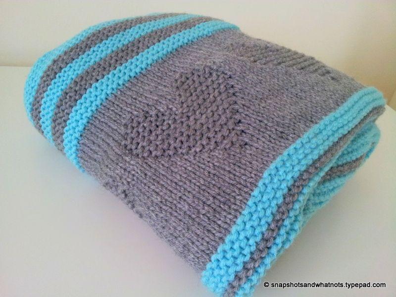 Valentine\'s inspired knitted baby blanket | Pinterest | Blanket ...