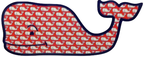 Vineyard Vines Red Whaley Whale