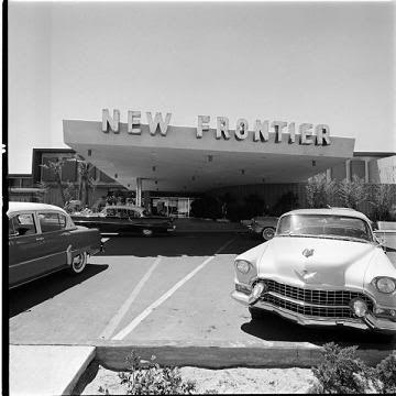 1955 Las Vegas New Frontier vintage photo Strip