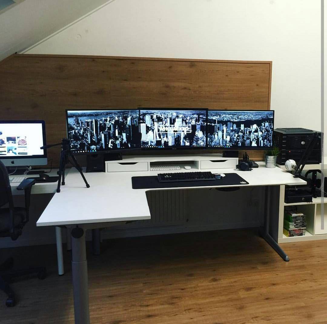 Pin von Meg Sel auf Workspace Setup | Pinterest | Büroräume, Büros ...