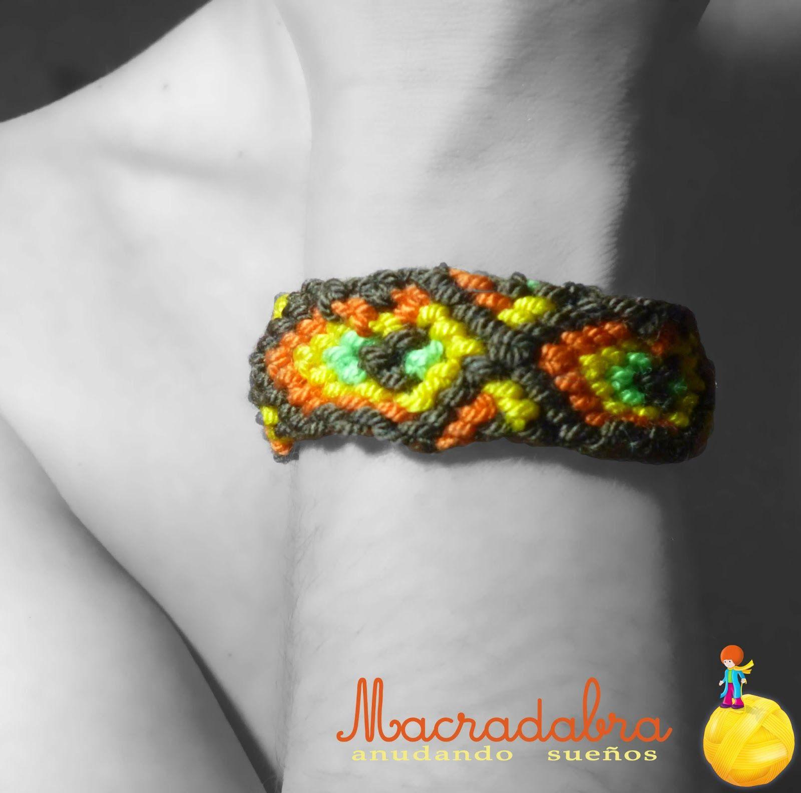 Pulsera en #Macrame (patron 34271) | Products I Love | Pinterest ...
