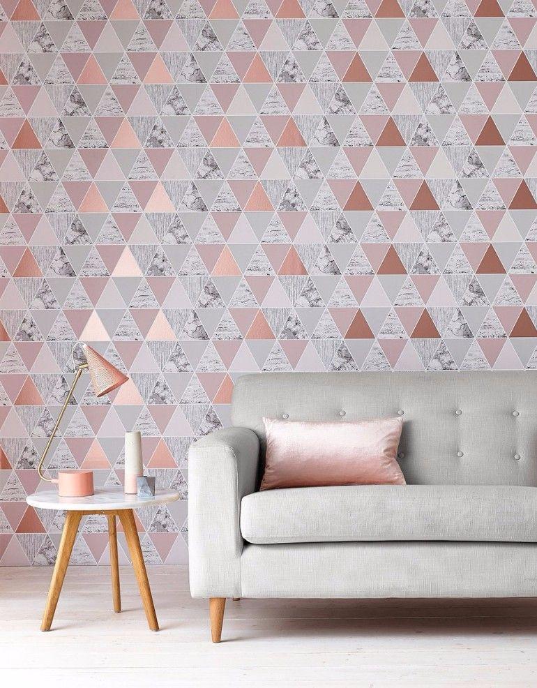 Best Wallpaper Design Ideas For Your Living Room Geometric 400 x 300