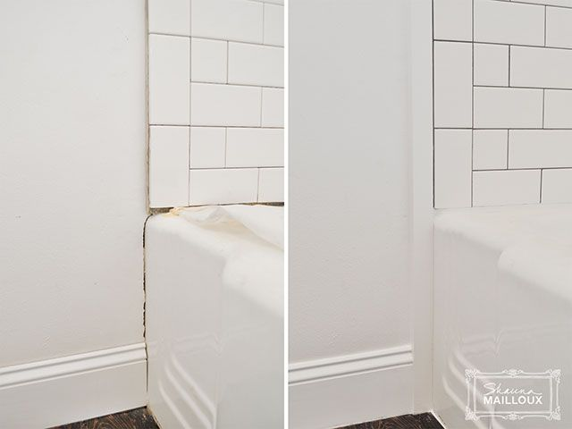 bathroom tile trim subway tiled tub surround edging beautiful home 11721