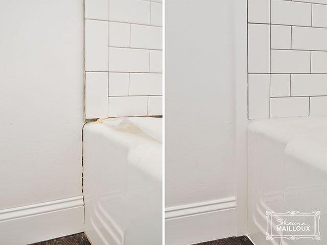 Subway Tiled Tub Surround - edging | Bathroom Inspiration ...