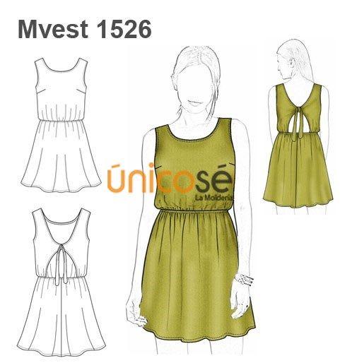 Patrones vestidos sueltos mujer