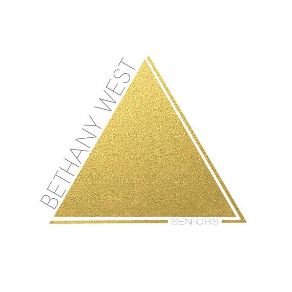 Photography Logo  Modern Gold Logo  gold by sweetlittlemuse, $55.00