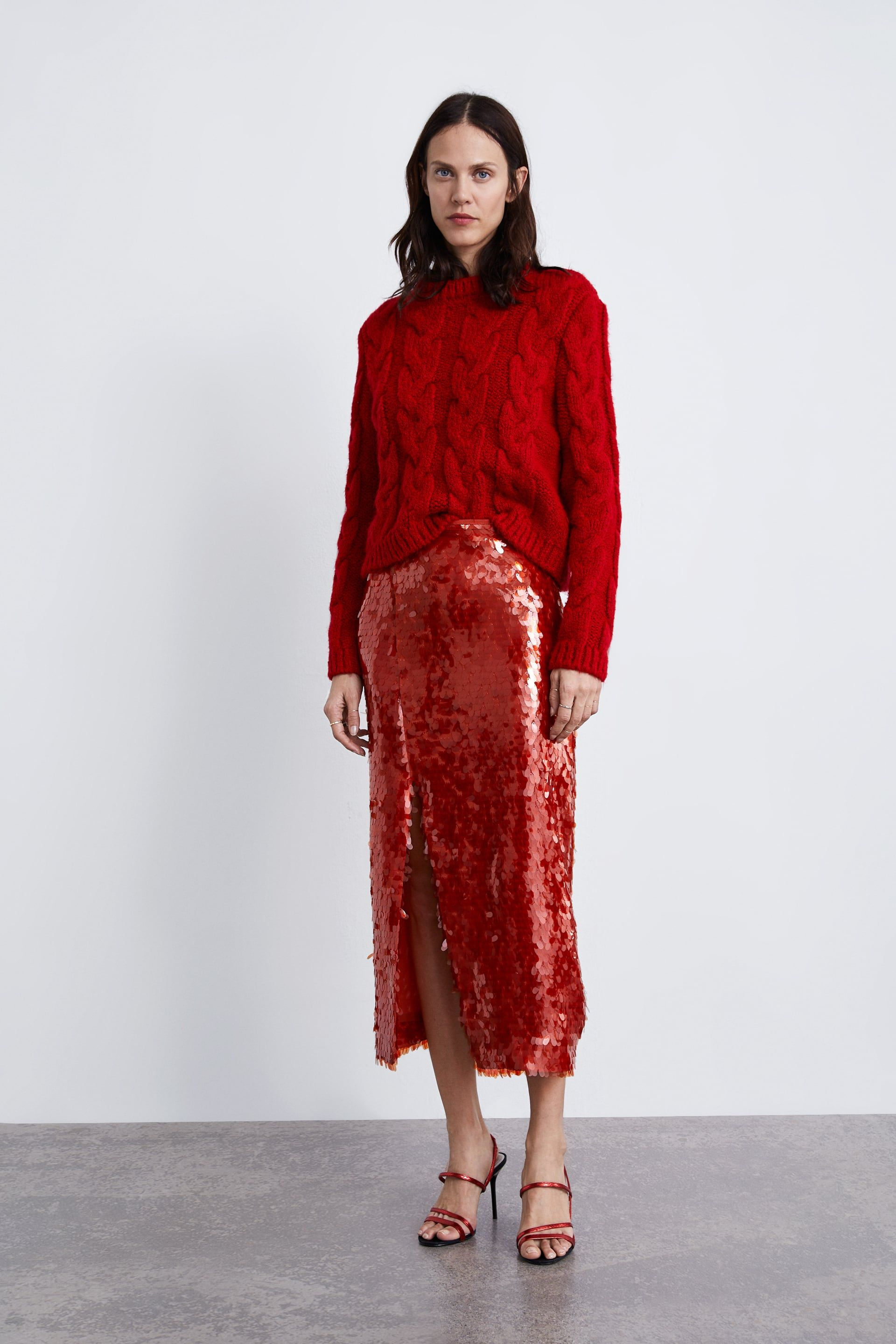 548539675 FALDA LENTEJUELAS | Wish List | Sequin skirt outfit, Winter skirt ...