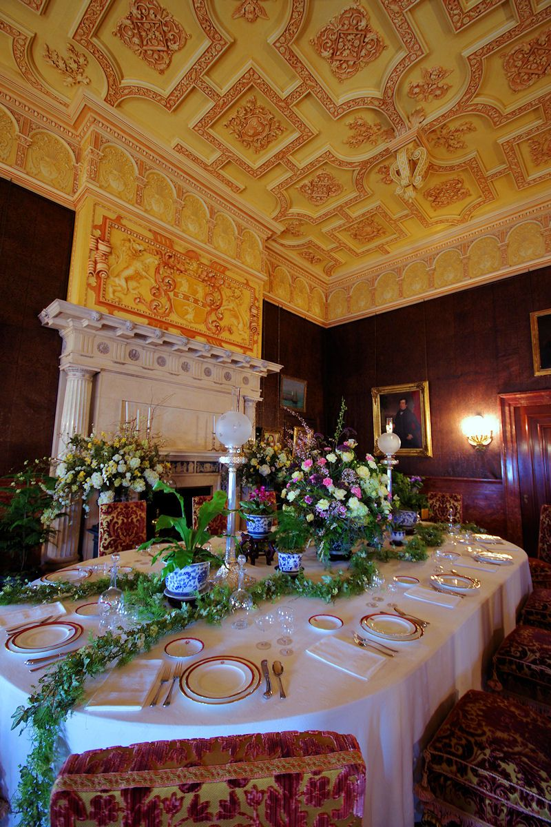 Biltmore House Breakfast Room With Spring Flowers Asheville Nc