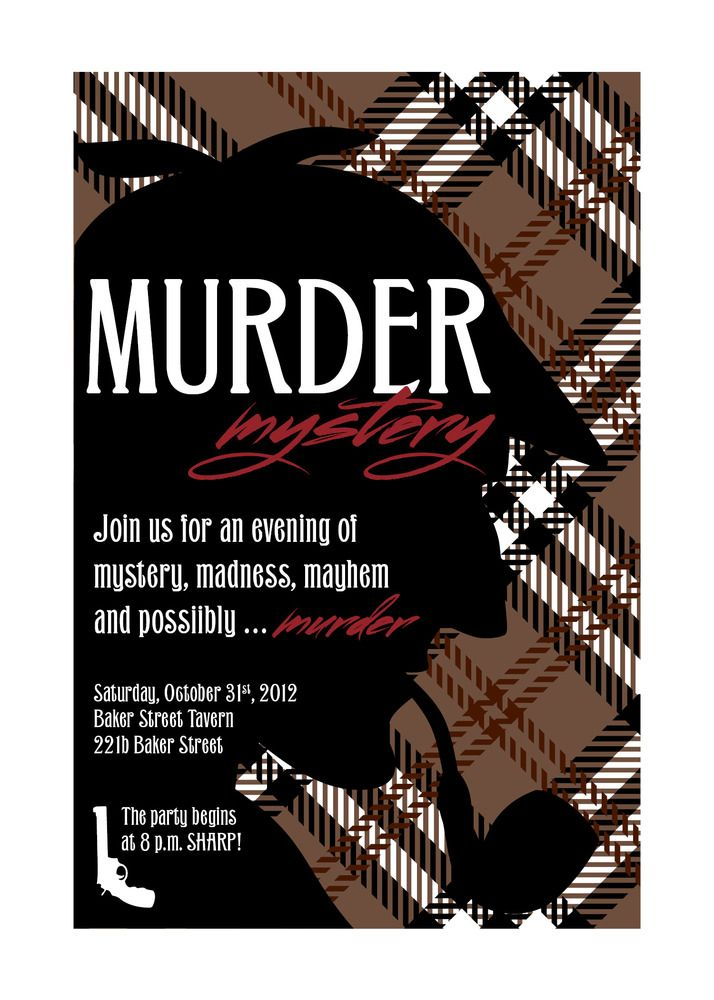 Murder mystery party sherlock holmes mystery parties murder this is the perfect invitation to set the tone for your murder mystery party sherlock stopboris Images