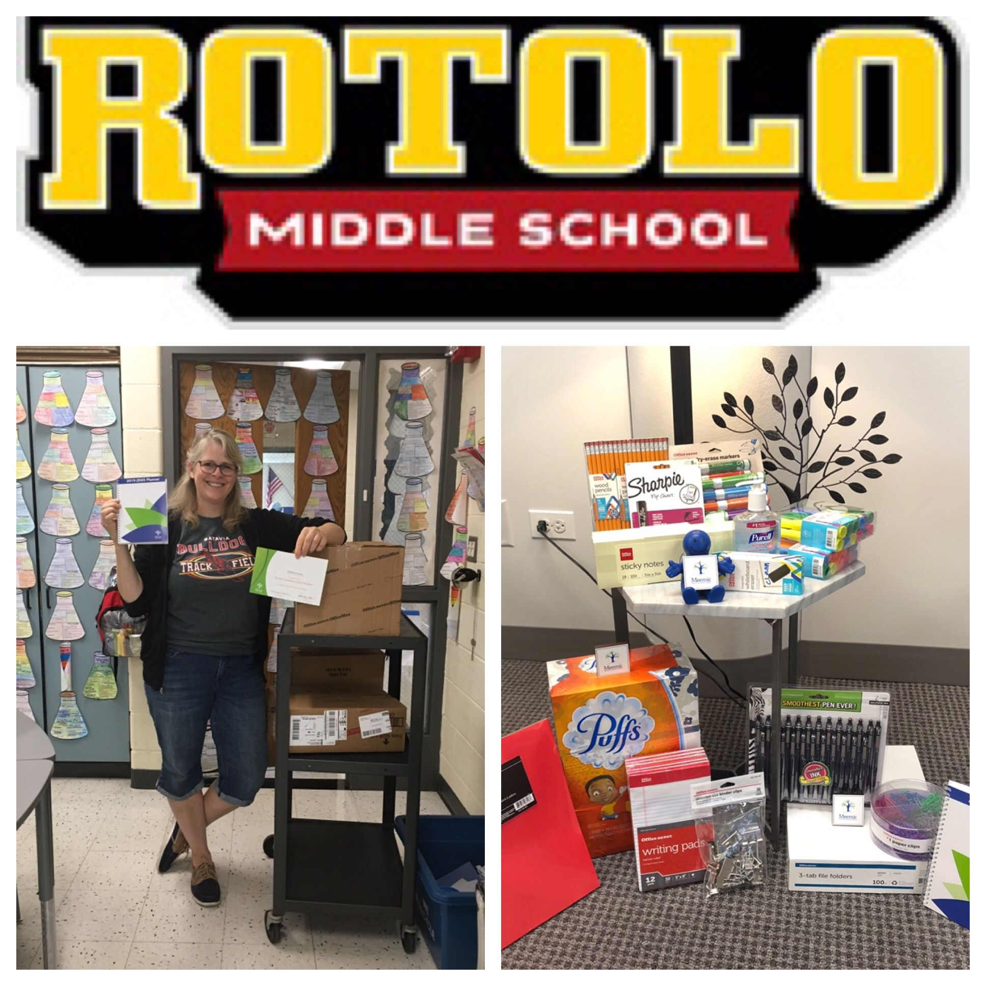 Congratulations To Kathleen Carey From Rotolo Middle School