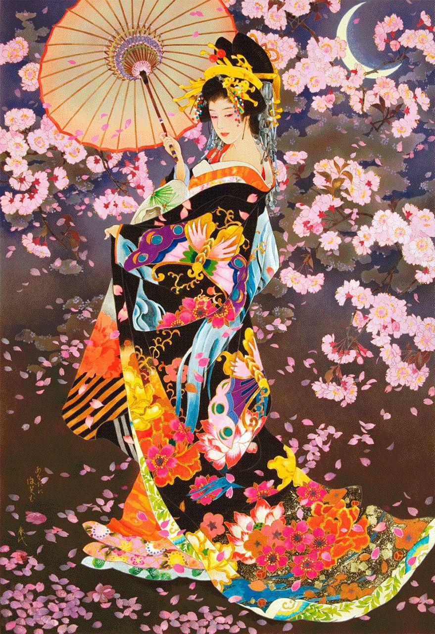 Oriental Furniture Geisha Canvas Wall Art CV-ART-GEISHA