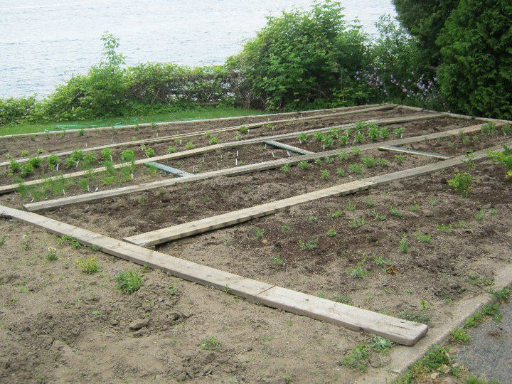 the start of our Herb Garden on site at the Gananoque Inn