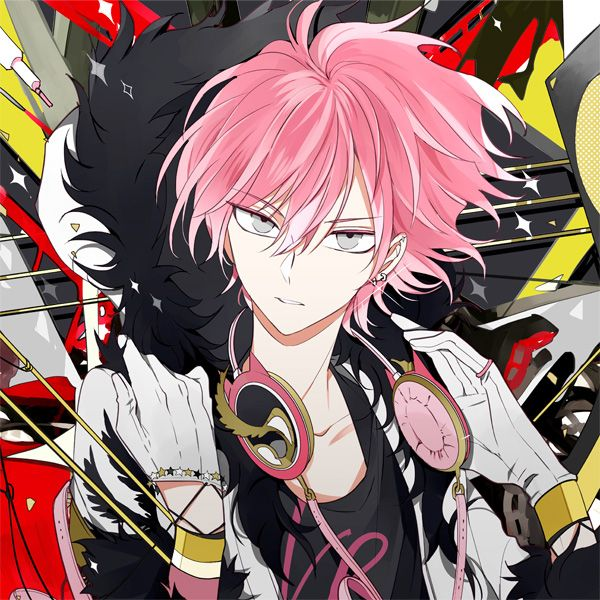 Anime Guy Light Red Pink Hair Headphones Icon Cool Anime Guys Pink Hair Anime Anime Artwork