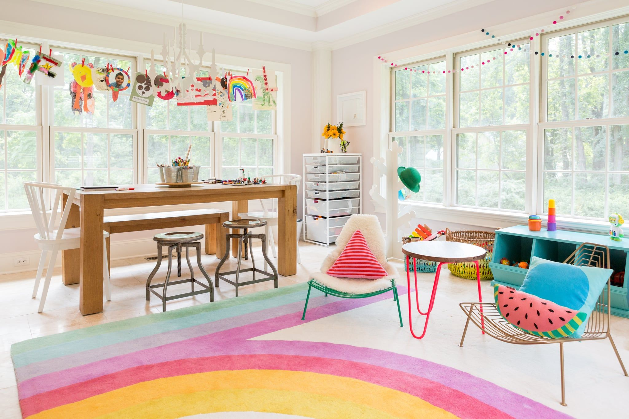 This Colorful Kidsu0027 Playroom Might Be Too Cute To Handle