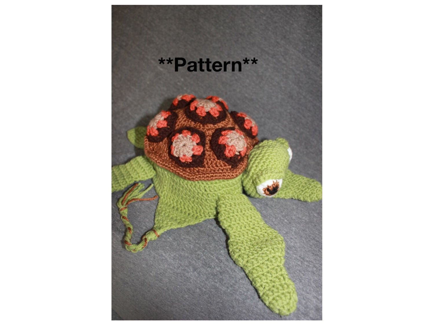 Crush/ Squirt Sea Turtle Crochet Hat with Earflaps PATTERN, from ...