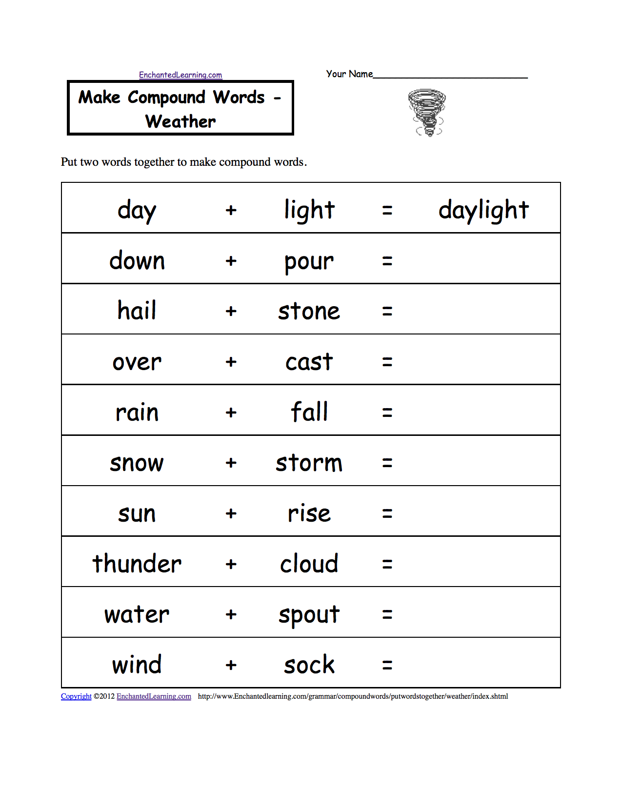 WeatherRelated Spelling Activities and Worksheets at