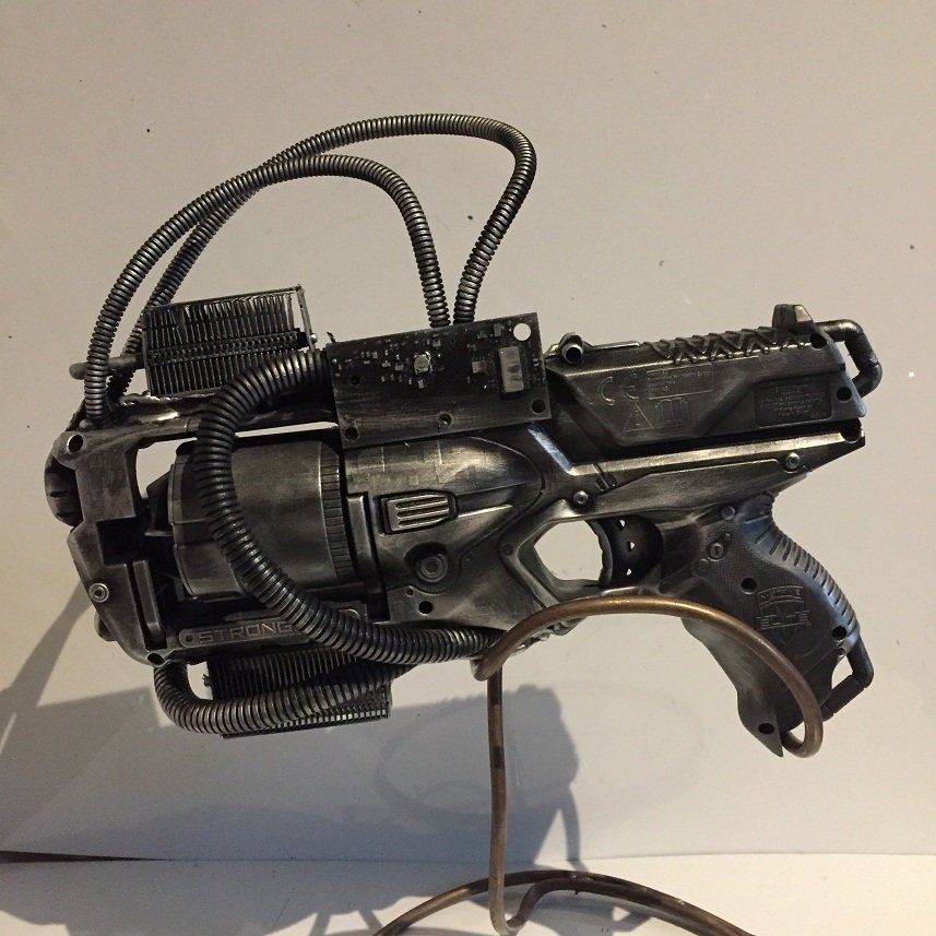 Steampunk Cosplay Large Upcycled Nerf Style Gun Foam Blaster