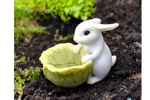 Miniature Fairy Garden Bunny With Cabbage Planter Georgetown