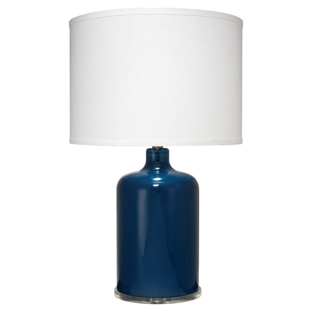 Norman Coastal Beach White Linen Shade Navy Blue Glass Table Lamp In 2020 Lamp Glass Table Lamp Table Lamp