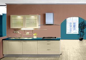 Farbgestaltung Für Eine Küche Mit Wandfarbe Savanne Und Lagune ... Farbgestaltung Grn Braun