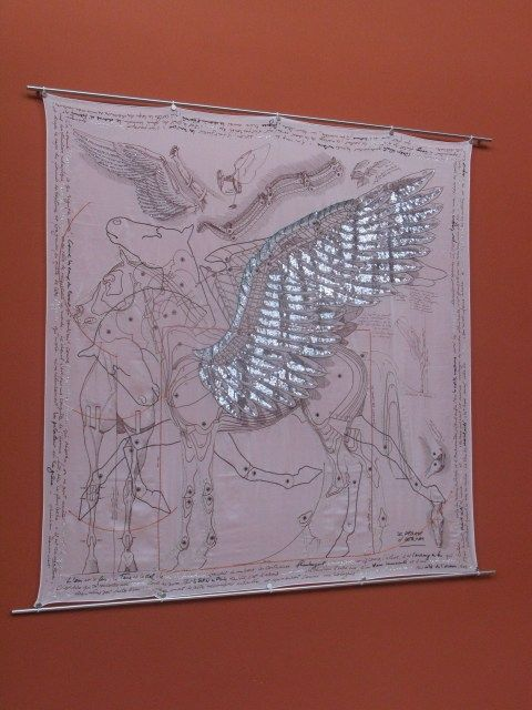 poster of the . . . Hermes Pegasus scarf designed for Saut Hermes event at the Grand Palais in Paris