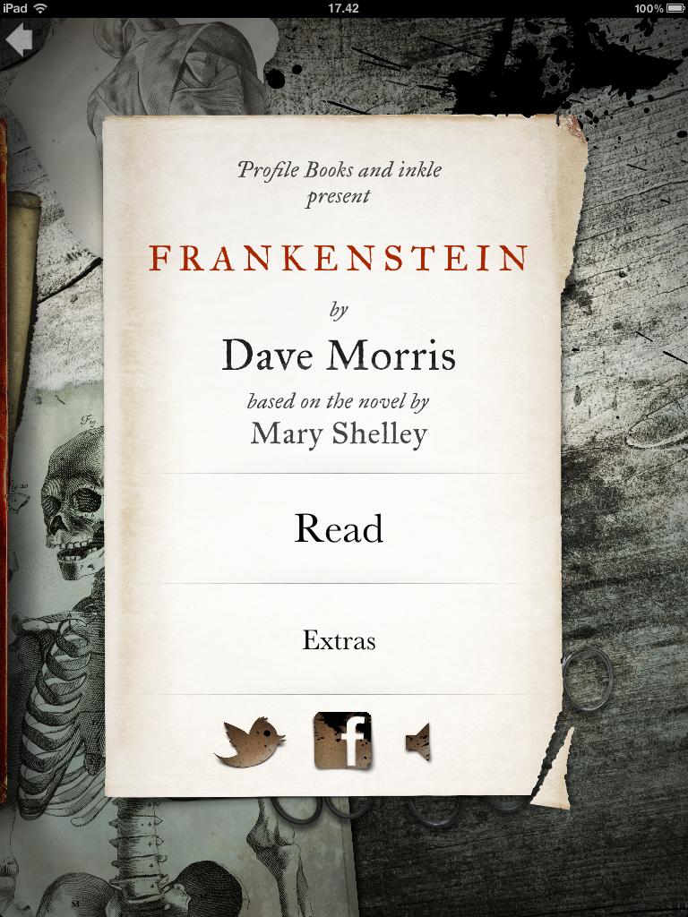 Flot BogApp til os over 5 år... Frankenstein.