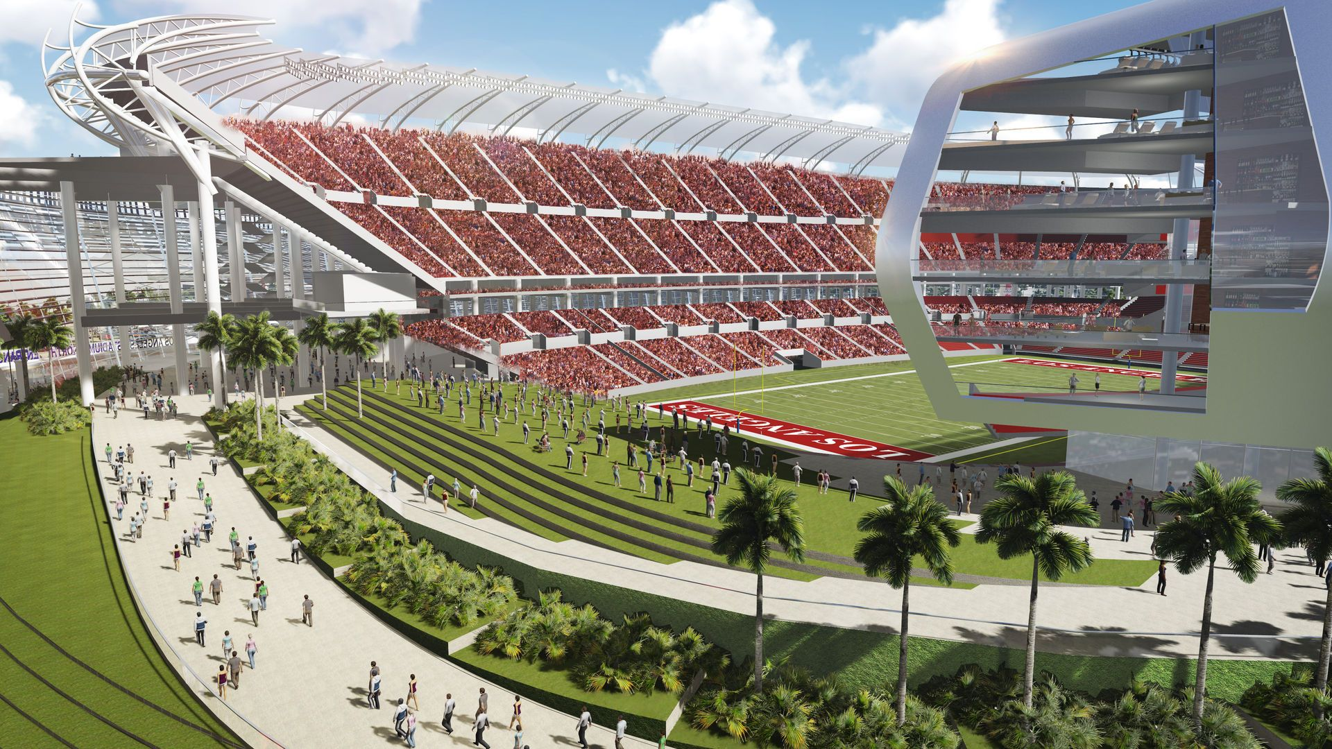 View Of The Proposed Los Angeles Nfl Stadium In Carson For The