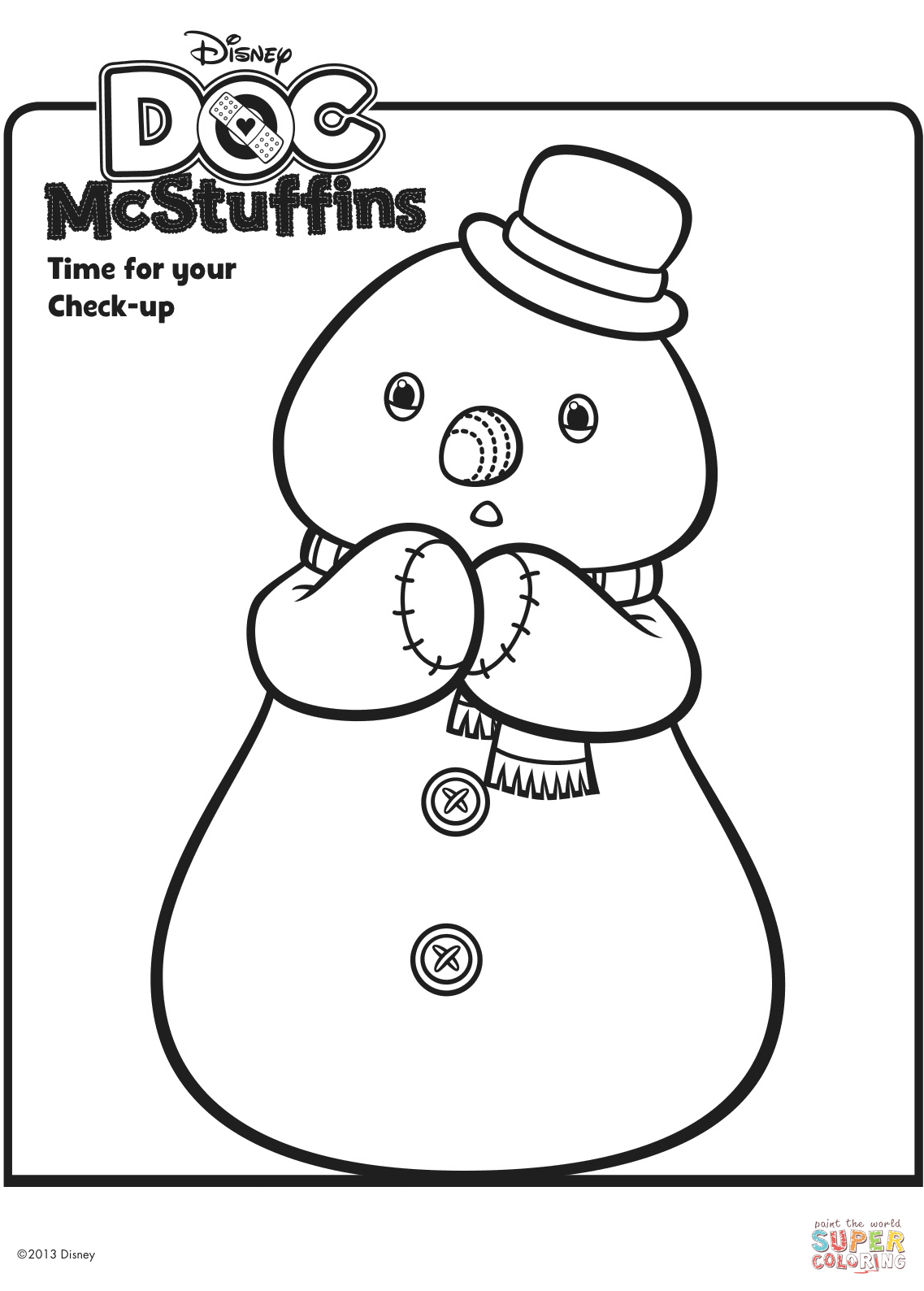 Chilly the Snowman from Doc McStuffins | Super Coloring | Coloring ...