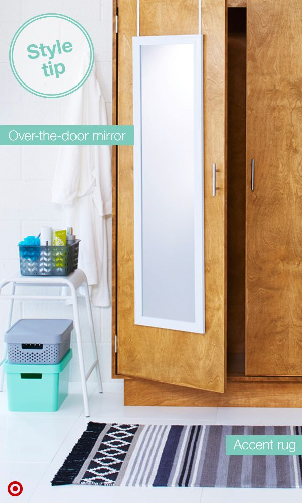 Full Length Mirror Closet · Maximizing College Dorm Closet Space Is Key.  Hanging An Over The Door,