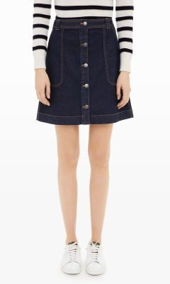 Women | Cosima Denim Skirt | Club Monaco Canada | outfits ...