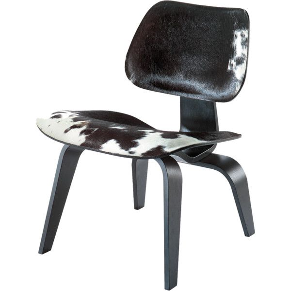Eames LCW Calf's Skin Black and White (132,465 PHP) ❤ liked on Polyvore featuring home, furniture, chairs, accent chairs, charles & ray eames, molded chair, black white accent chair, black white furniture, black white chair and black and white furniture