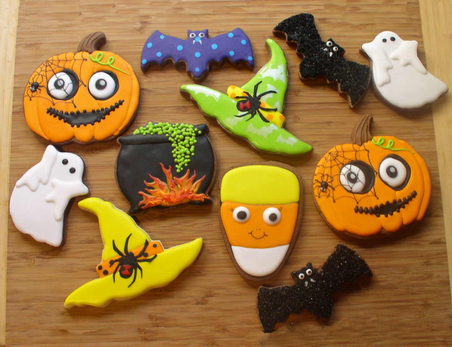 Halloween Assortment 2 Cookies-Halloween Pinterest - Halloween Decorated Cookies