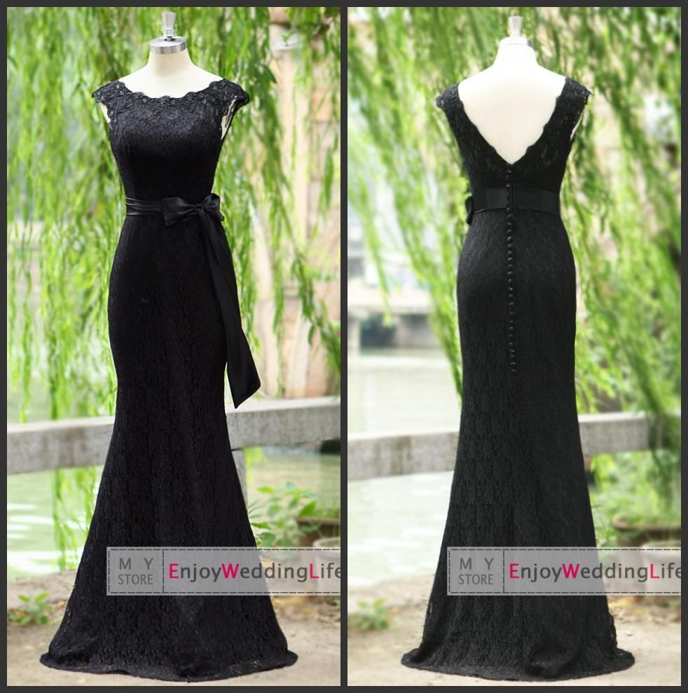2014 New Sexy Scoop Black Lace Mermaid Evening Evening Dresses | Buy Wholesale On Line Direct from China