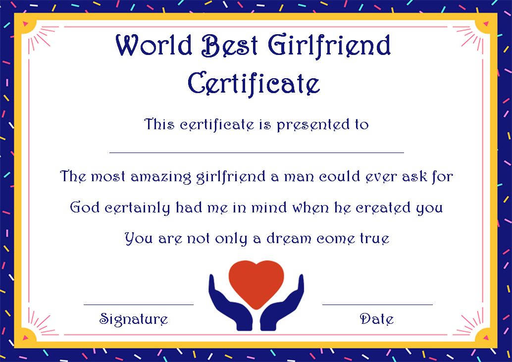 Surprise Your Girlfriend Using These 16 Best Girlfriend Certificate Templates Template Surprise Your Girlfriend Surprise For Girlfriend Certificate Template