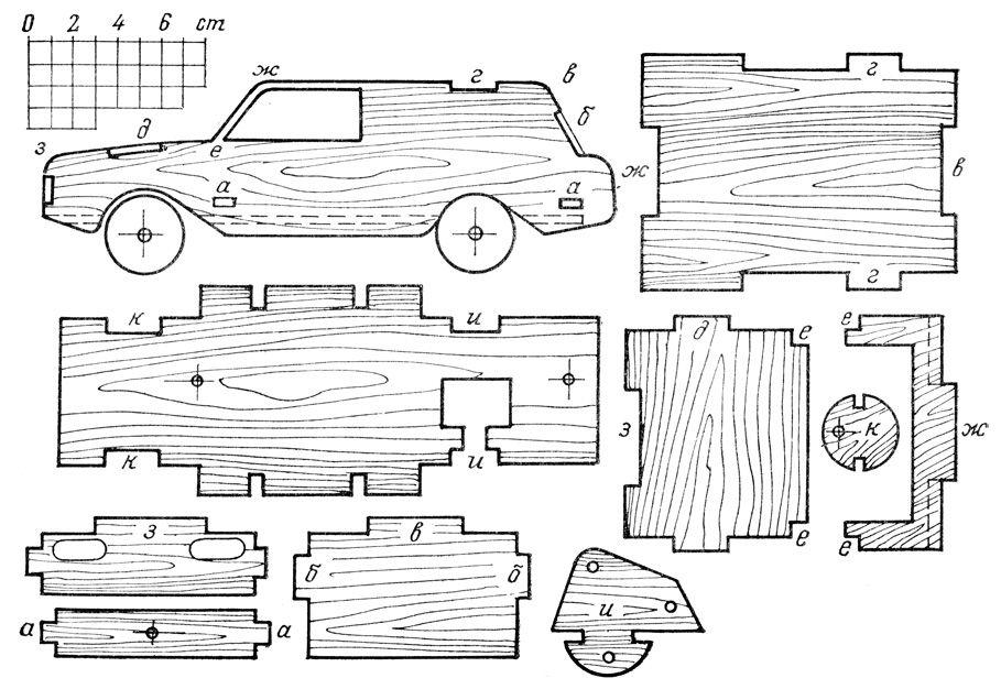 как сделать машинку из дерева чертежи - Поиск в Google ...