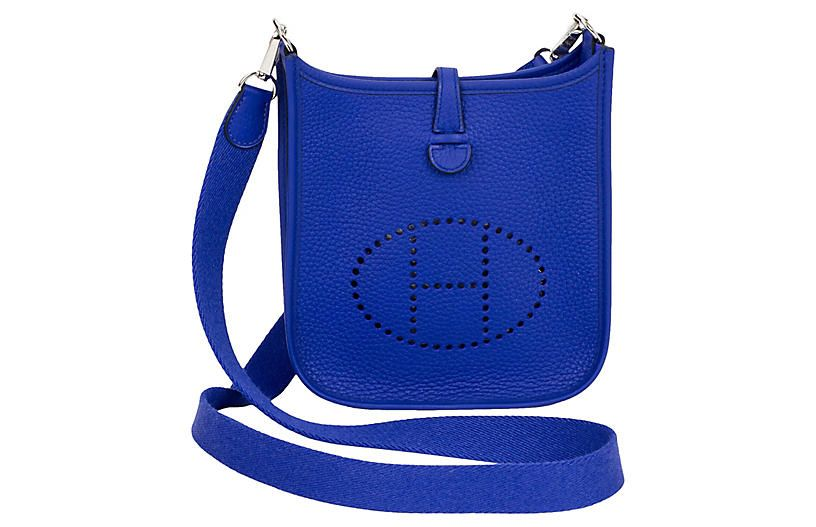 Photo of Hermès Electric Blue Mini Evelyne – Handbags – Bags – Bags & Accessories – Gifts & Accessories – Decor