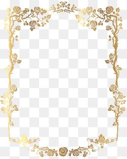 Gold Frame Flowers Pattern Texture Tile Pattern Art Pattern Golden Border French Border Png Picture Tile Art Golde Floral Border Clip Art Borders French Floral