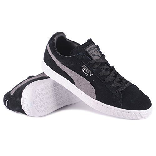 Puma Mens Suede Classic + Shoes Size 8 Black/Steel Gray/Puma Silver -