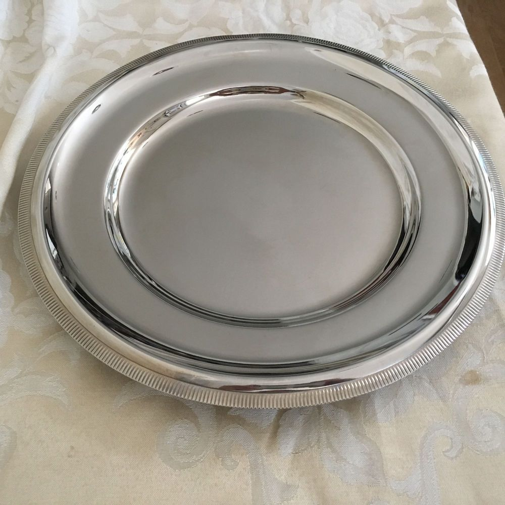 Pin On Inox Letang Remy France 18 10 Stainless Steel Round Serving Platter