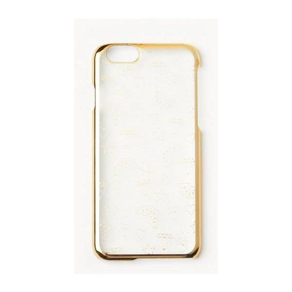 Missguided Metallic Doodle Print iPhone 6 Case ($9) ❤ liked on Polyvore featuring accessories, tech accessories, gold, metallic iphone case, iphone cases, apple iphone case and iphone cover case