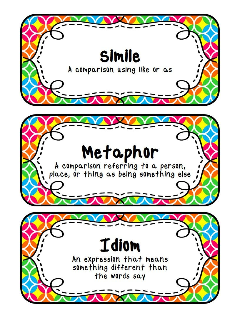 worksheet What Is A Metaphor Math Worksheet fit to be fourth similes metaphors idioms with a freebie freebie