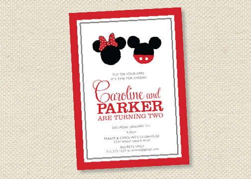 twin mickey minnie mouse birthday party by scallopedacorn on Etsy
